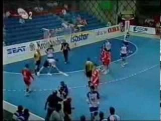 Чемпионат Европы по гандболу 1996, Испания, групповой этап, Россия-Югославия, 20-20, 1 место