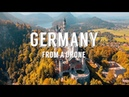 Stunning aerial drone footage over GERMANY AUSTRIA 4k