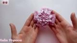 Блестящие бантики из парчовой ленты
