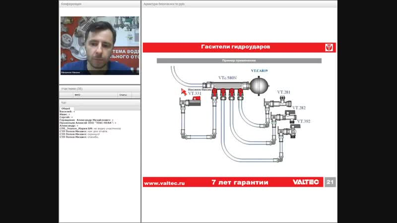 Арматура безопасности инженерных систем - вебинар 12.12.2017