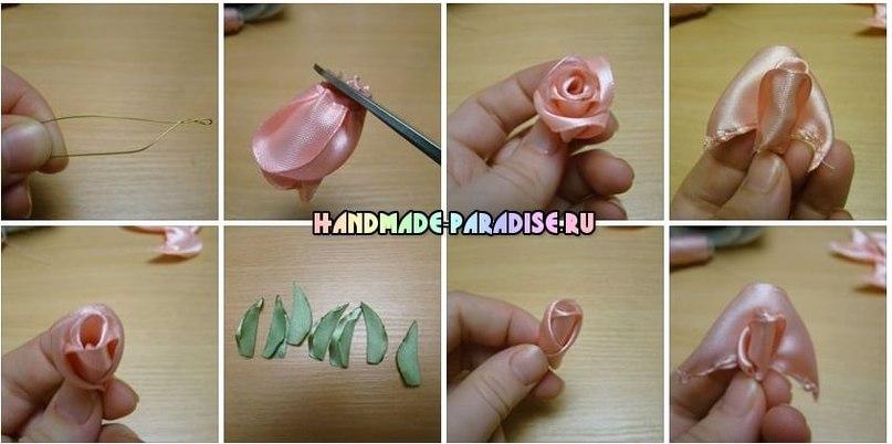 Маленькие розы своими руками 31