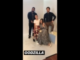 The cast of Godzilla for Entertainment Weekly