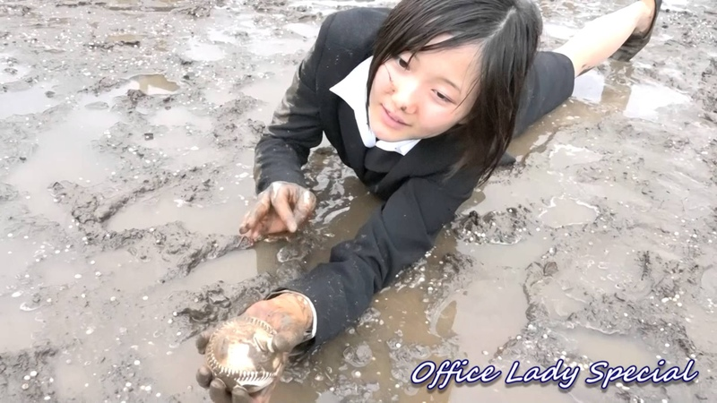 Muddy treasure hunting baseball practice