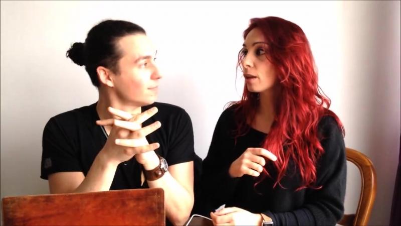 Chiara Di Bari et John Eyzen - parlent de la pièce Einstein