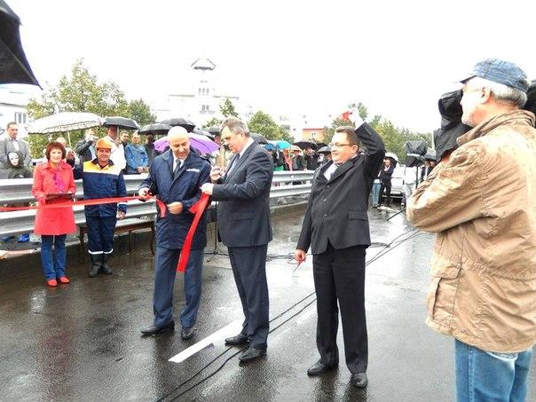 Открытие Октябрьского моста