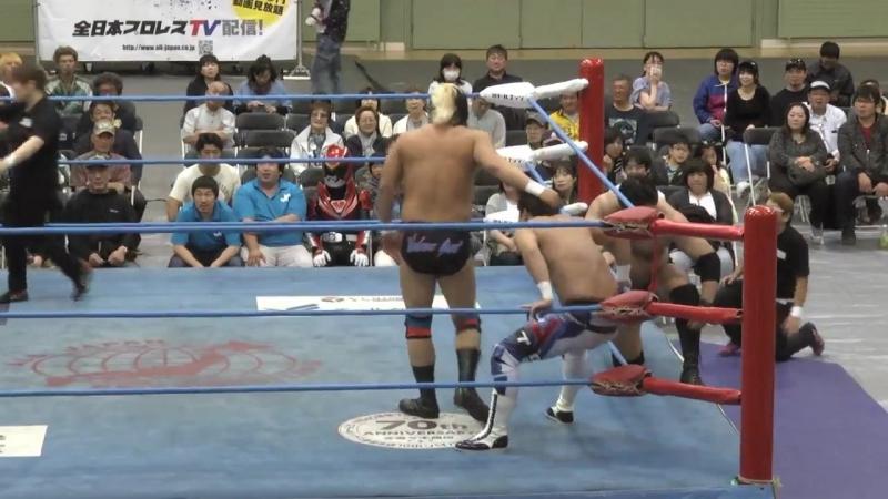 Naoya Nomura, Yuma Aoyagi vs. Suwama, Shuji Ishikawa (AJPW - Dynamite Series 2018 - Day 7)