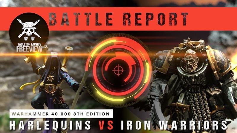 Warhammer 40,000 Battle Report: Harlequins vs Iron warriors 2000pts
