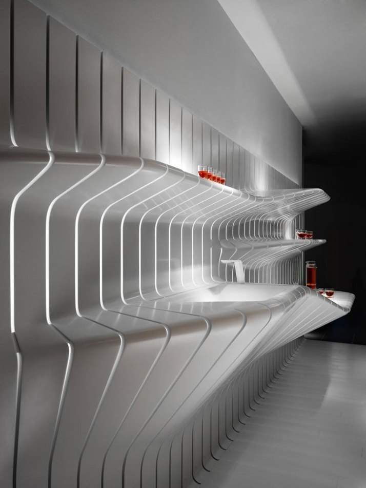 Corian super-surfaces by DuPont Corian and Amanda Levete Architects