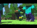Спанч Боб и Патрик   Майнкрафт  [Minecraft Анимация]