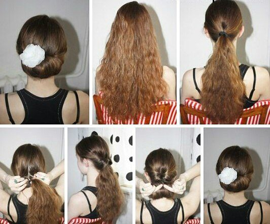 Как сделать прическу самой себе быстро и легко на средние волосы