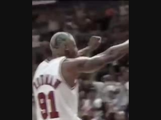 (1996) These are all consecutive plays in the NBA Finals by Dennis Rodman. Can't teach heart. 🗣