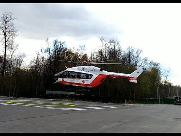 Санитарный вертолет. ambulance helicopter.СпасРезерв