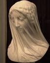 Красивый эффект мраморной вуали. Дева Мария из мрамора в исполнении Джованни Страцца…