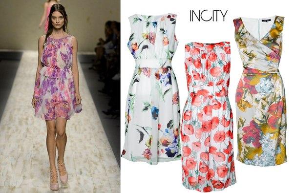 Incity платье с цветами