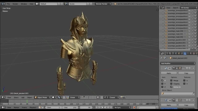 3D Armour ModelingMaking