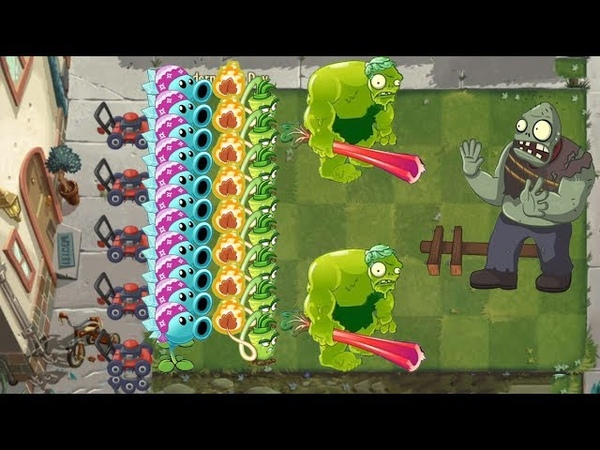 Pvz 2 Zoybean Pod Snow Pea and Wasabi Whip vs All Zombies