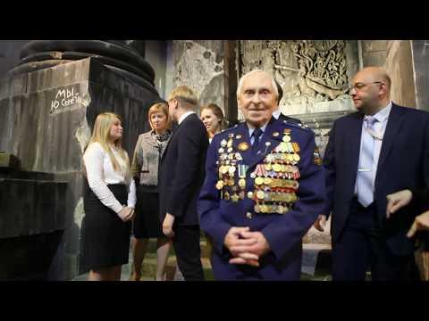 Михаил Михайлович Бобров на трехмерной панораме Битва за Берлин