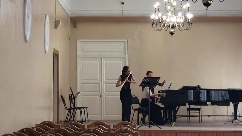 С.Прокофьев соната для флейты и фортепиано 2ч.