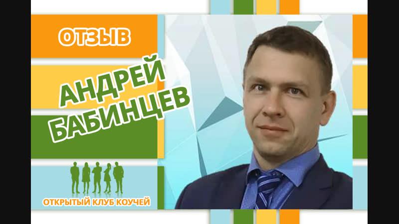 ОТЗЫВ Андрею Бабинцеву коучинг