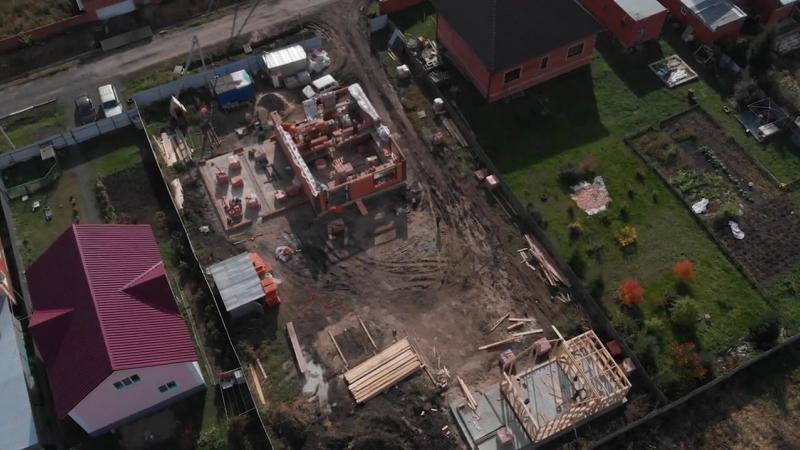 Отличное видео с квадрокоптера Строительство в Ростовке идет полным ходом