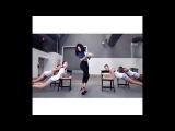 Nicki Minaj teaching Alexander Wang models the Anaconda Dance (well try)