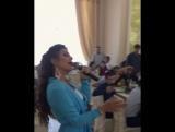 Самира Гаджиева на свадьбе