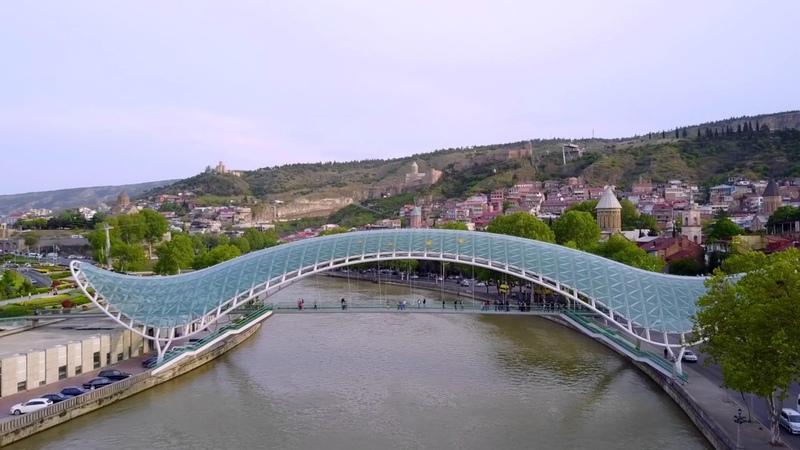Tbilisi - Bridge of Peace (from DJI Mavic Pro)