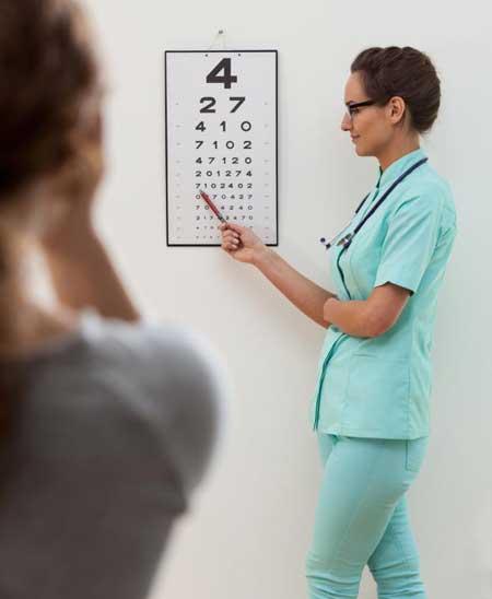 Тест глазной диаграммы предназначен для оценки того, насколько хорошо человек может видеть.