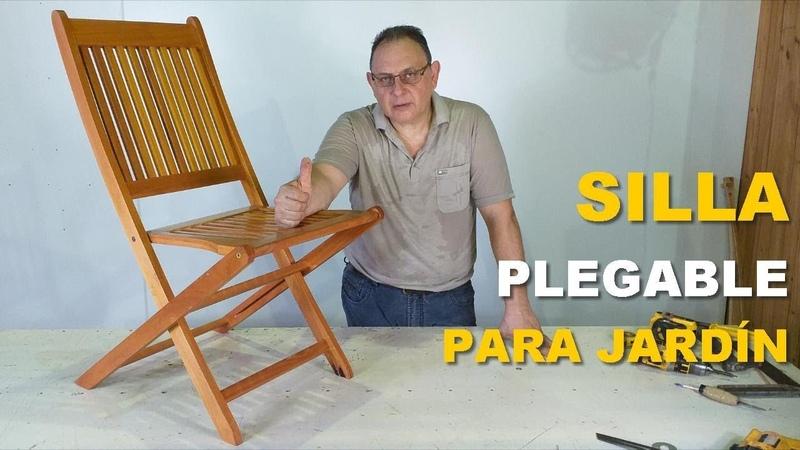 SILLA PLEGABLE DE MADERA PASO A PASO WOODEN CHAIR