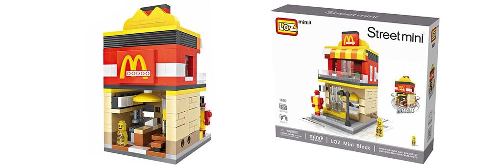 """Конструктор LOZ Street Mini """"McDonald's"""" 1607"""
