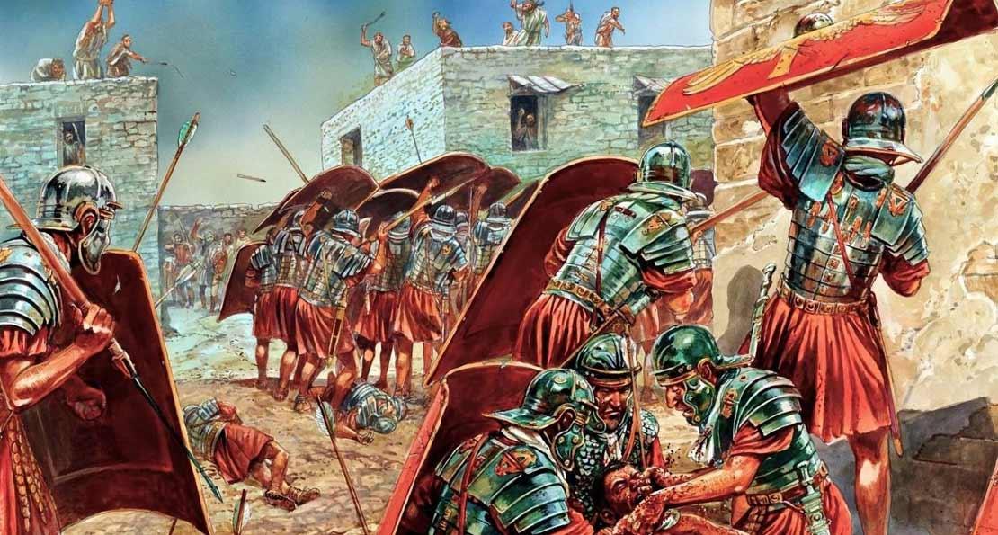 Римляне при штурме крепости