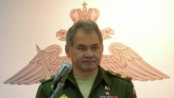 Министр обороны С. Шойгу