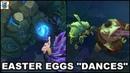 Easter Eggs - All Dances Blue Sentinel/Rift Scuttler/Herald/Master Yi/Rammus/Vilemaw/Daisy