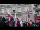 Протестующие в Чехии вышли с флагами Новоросии