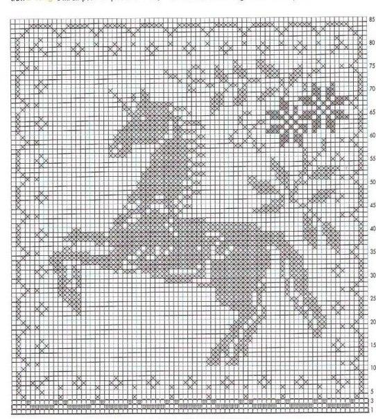 Схемы для вязания в филейной