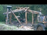 Cabin Construction time lapse days 1 - 8 @ 15fps