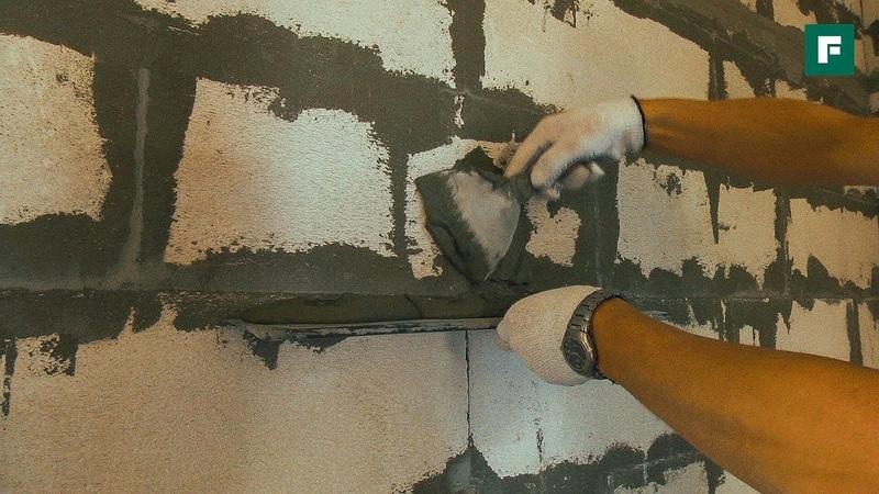 Плиточный клей вместо штукатурки Строительные лайфхаки FORUMHOUSE