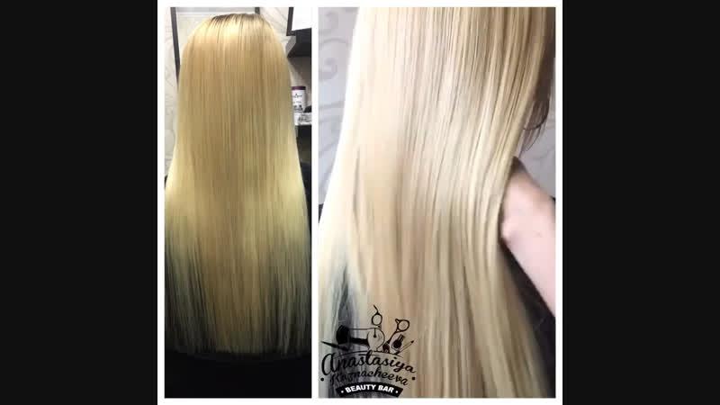 Наращивание волос 🤗 50 прядей