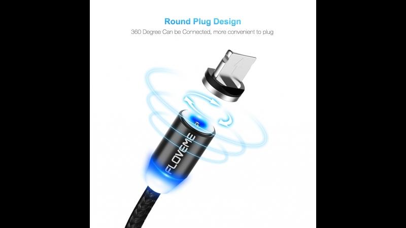 Floveme светодиодный магнитный кабель для айфон микро Тип USB c телефонный кабель для iPhone X 8 7 6 Plus Xiaomi Samsung S8 S7 1