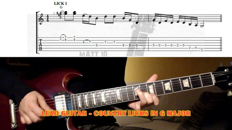 Country Licks In G Major GUITAR LESSON with TAB