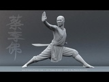 Kung fu master smashes 100 bricks in 37 seconds