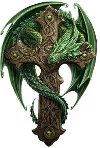 """Оригинал - Схема вышивки  """"Кельтский дракон """" - Схемы вышивки - cat2 - Авторы - Портал  """"Вышивка крестом """" ."""