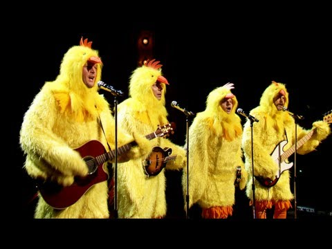 The Chickeneers' All-Clucking Version Of Ho Hey (Jimmy Fallon, Blake Shelton Nick Offerman)