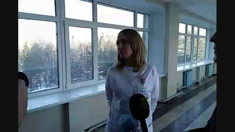 Деды Морозы альпинисты в Областной больнице ГНОКБ СоветскаяСибирь ВечернийНовосибирск VNRU