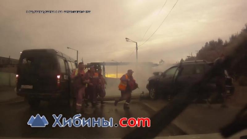Мурманск ДТП ЧП столб упал в результате аварии