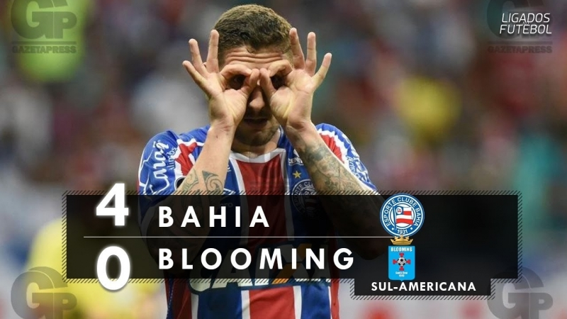 Bahia 4 x 0 Blooming - Melhores Momentos (HD) Sul-Americana 23/05/2018