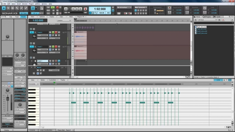 Cakewalk Sonar X3. Les. 15. Grouping clips, nudge, markers