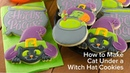 How to Make Cat Under a Witch Hat Cookies