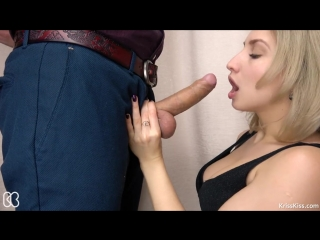 Secretary Suck Big Cock and Swallows Cum - Kriss Kiss  (Amateur,  Big Dick,  Blonde, Blowjob,  Handjob,  Reality, Teen,  Euro HD