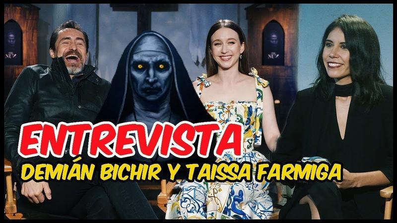 Taissa Farmiga y Demián Bichir Verdaderos sustos en el set